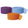 ORANGE LT BLUE PURPLE CREPE COMBO PARTY SUPPLIES