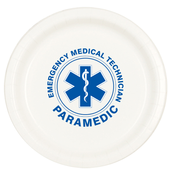 PARAMEDICS DINNER PLATE 8/PKG PARTY SUPPLIES