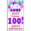 PERSONALIZED 100TH PASTEL BLN DOOR BANNR PARTY SUPPLIES