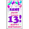 PERSONALIZED 13TH PASTEL BLLN DOOR BANNE PARTY SUPPLIES