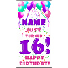 PERSONALIZED 16TH PASTEL BLN DOOR BANNER PARTY SUPPLIES