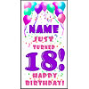 PERSONALIZED 18TH PASTEL BLN DOOR BANNER PARTY SUPPLIES