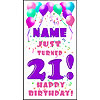 PERSONALIZED 21ST PASTEL BLN DOOR BANNER PARTY SUPPLIES