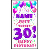 PERSONALIZED 30TH PASTEL BLN DOOR BANNER PARTY SUPPLIES