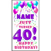 PERSONALIZED 40TH PASTEL BLN DOOR BANNER PARTY SUPPLIES