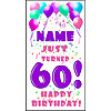 PERSONALIZED 60TH PASTEL BLN DOOR BANNER PARTY SUPPLIES