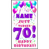 PERSONALIZED 70TH PASTEL BLN DOOR BANNER PARTY SUPPLIES