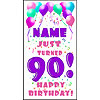 PERSONALIZED 90TH PASTEL BLN DOOR BANNER PARTY SUPPLIES