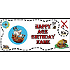 PERSONALIZED PIRATE BANNER PARTY SUPPLIES