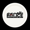 POLICE CITY DESSERT PLATE 8/CT PARTY SUPPLIES