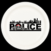 POLICE CITY DINNER PLATE 8/PKG PARTY SUPPLIES