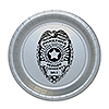 POLICE BADGE DESSERT PLATE 8/PKG PARTY SUPPLIES