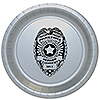 POLICE BADGE DINNER PLATE 8/PKG PARTY SUPPLIES