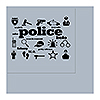 POLICE ICONS LUNCHEON NAPKIN 16/PKG PARTY SUPPLIES