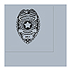 POLICE BADGE LUNCHEON NAPKIN 16/CT PARTY SUPPLIES