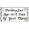 PERSONALIZED POLKA DOT BANNER PARTY SUPPLIES