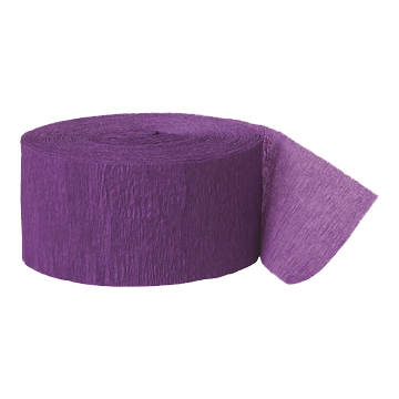 PURPLE CREPE STREAMER (81') PARTY SUPPLIES