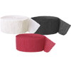 RED WHITE & BLACK CREPE (SOLID COLOR) PARTY SUPPLIES