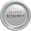 HAPPY RETIREMENT! DESSERT PLATE 8/PKG PARTY SUPPLIES