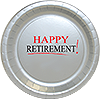 HAPPY RETIREMENT! DINNER PLATE 8/PKG PARTY SUPPLIES