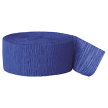 ROYAL BLUE CREPE STREAMER (81') PARTY SUPPLIES