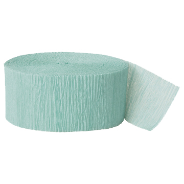 SEAFOAM GREEN CREPE STREAMER (81') PARTY SUPPLIES