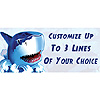 PERSONALIZED SHARK BANNER PARTY SUPPLIES