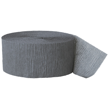 GRAY CREPE STREAMER (81') PARTY SUPPLIES