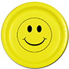 SMILEY FACE DINNER PLATE 8/PKG PARTY SUPPLIES