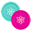 SNOWFLAKE TEAL-MAGENTA DINNER PLATE PARTY SUPPLIES