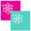 SNOWFLAKE TEAL-MAGENTA LUNCHEON NAPKIN PARTY SUPPLIES