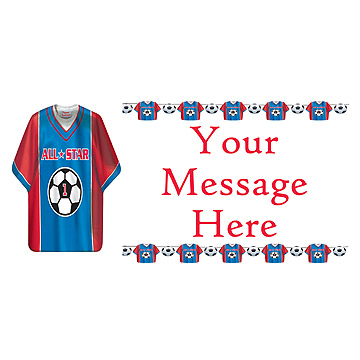 PERSONALIZED SOCCER SHIRT BANNER PARTY SUPPLIES