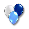 NAVY - LT BLUE - SILVER LATEX BALLOONS PARTY SUPPLIES