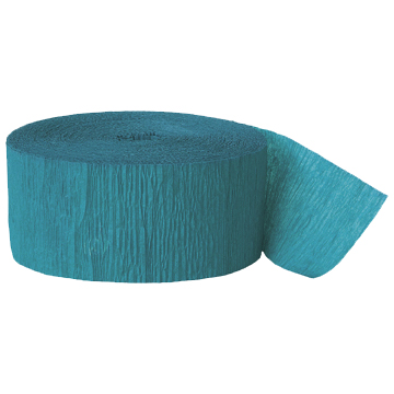 TEAL CREPE STREAMER (81') PARTY SUPPLIES