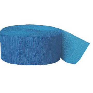 TURQUOISE CREPE STREAMER (81') PARTY SUPPLIES