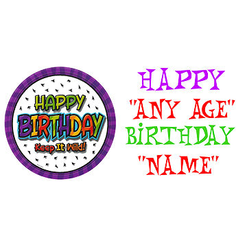 Click for larger picture of PERSONALIZED WILD ANY AGE BANNER PARTY SUPPLIES