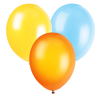 LT BLUE YELLOW & ORANGE BALLOON COMBO PARTY SUPPLIES